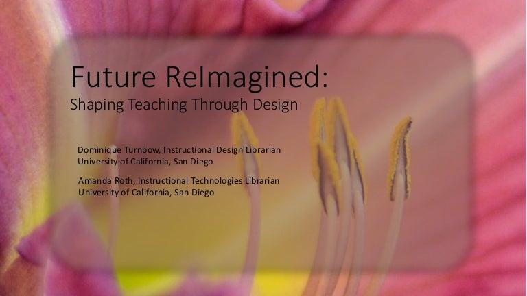 Loex 2016 Future Reimagined Shaping Teaching Through Design