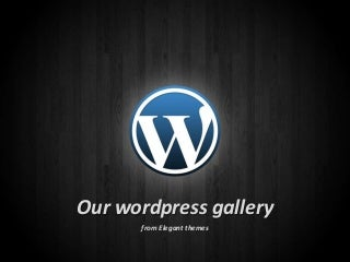 Our wordpress themes gallery
