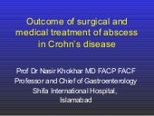 Outcome of abscess treatment in Crohn's disease