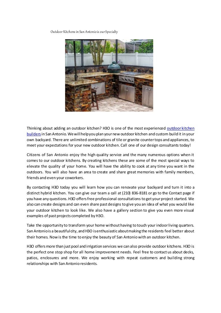 Outdoor Kitchens In San Antonio Is Our Specialty