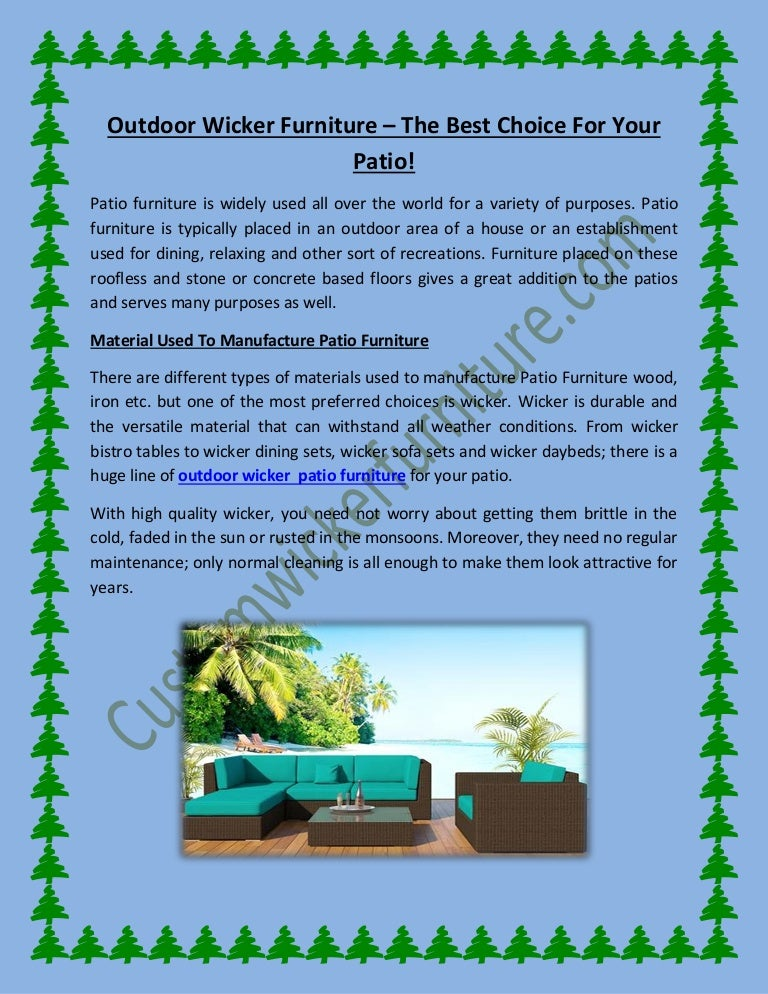 The Best Outdoor Wicker Patio Furniture In Us - Why-wicker-patio-furniture-is-the-best-choice-for-your-outdoor-needs