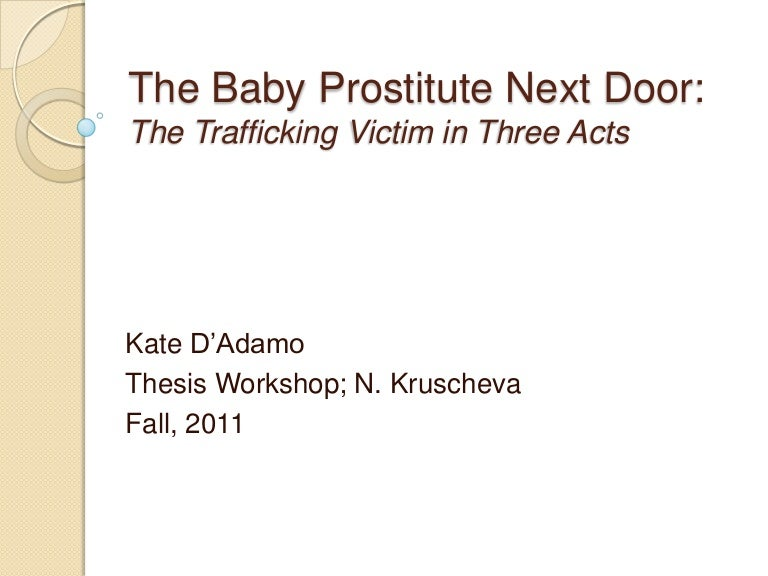 outline for a research paper on prostitution