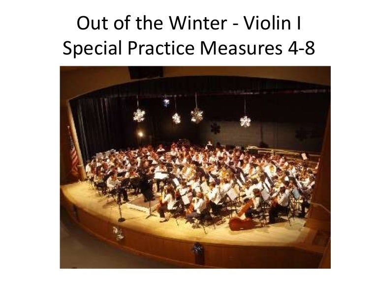 Out Of The Winter Special Practice Violin 1