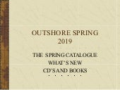 Outshore Spring  2019  Catalog