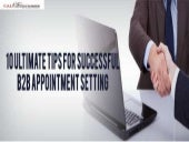 Outsourced appointment setting services  call2customer