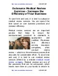 Outsource medical review_services-increase_the_efficiency_of_your_business