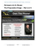 Outsource to in house - the preparation stage - part 2 of 4