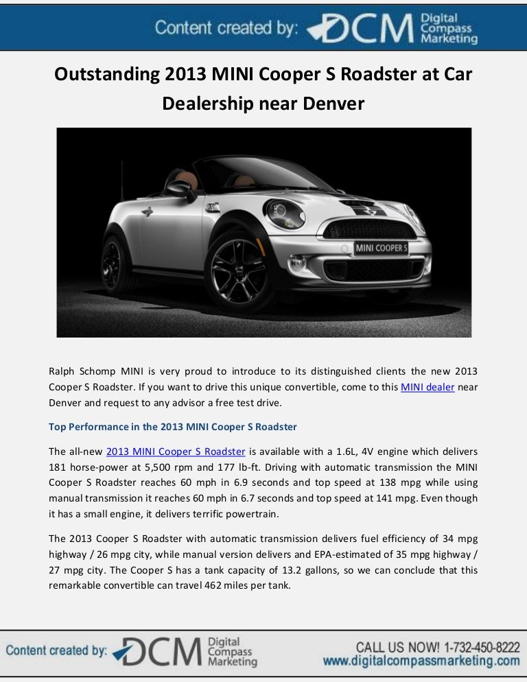 Mini Cooper Dealers >> Outstanding 2013 Mini Cooper S Roadster At Car Dealership