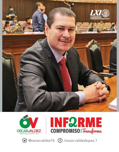 2DO INFORME LEGISLATIVO DIP. OSCAR VALDEZ
