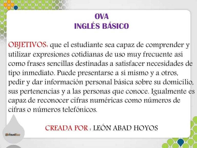 Ova Inglés Básico