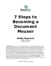 7 steps to becoming a document mouser - David Cuillier - Phoenix NewsTrain - 4.06.18