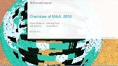 Overview of M&A, 2016