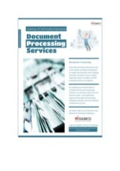 Overview of Technically Empowered Document Processing Services
