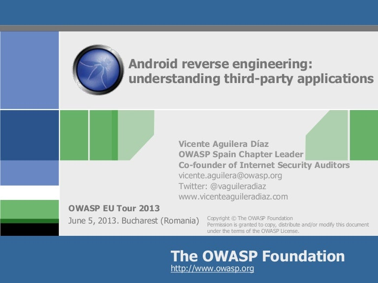 Android Reverse Engineering Understanding Third Party Applications