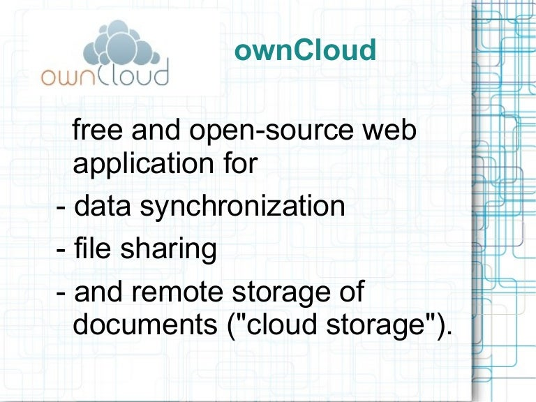 ownCloud overview and tutorial