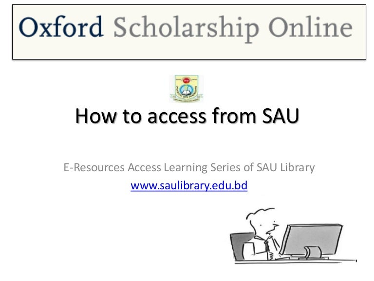 Oxford Scholarship Online Access