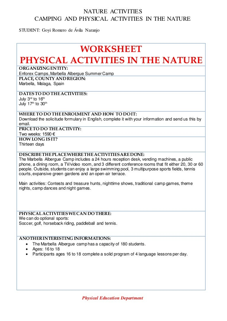 Nature activities robcynllc Gallery