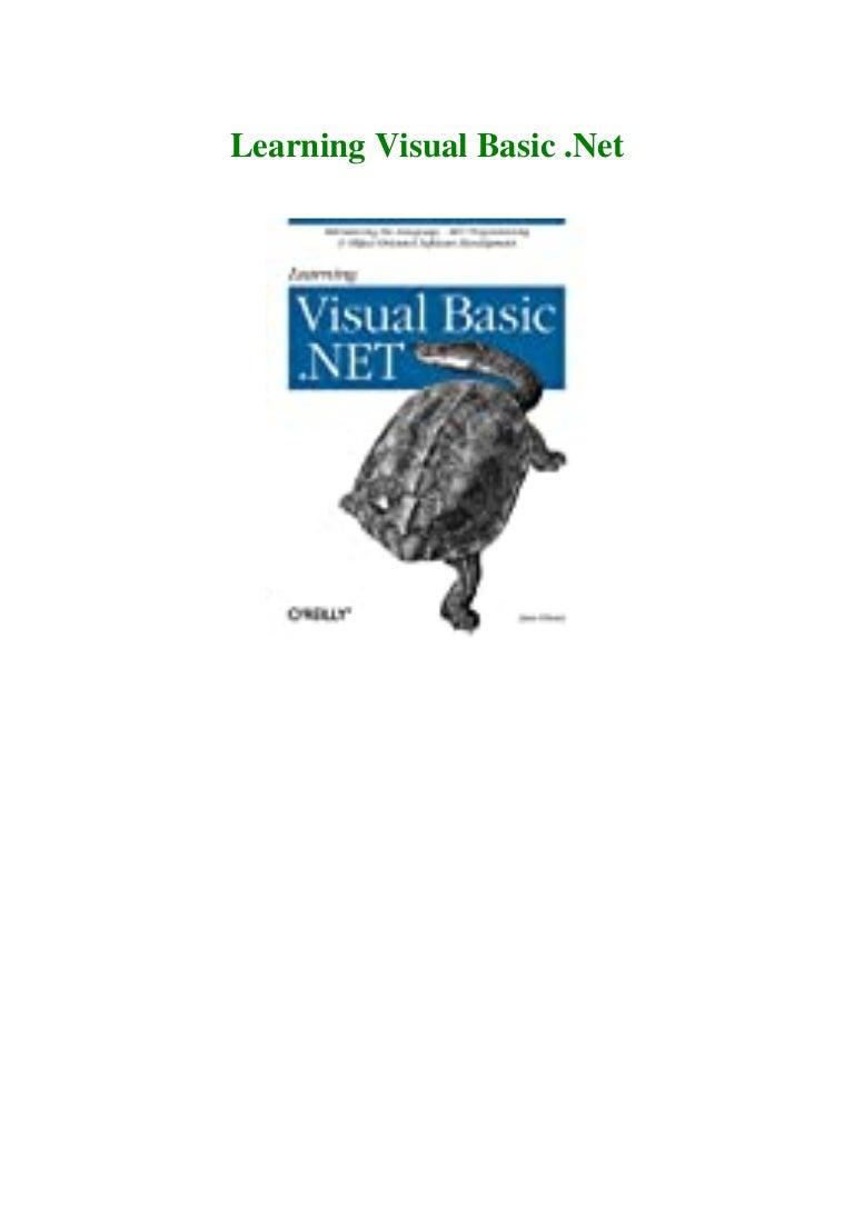 Free Ebook #P.D.F. FREE DOWNLOAD^ Learning Visual Basic .Net [DOWNLOADPDF] PDF