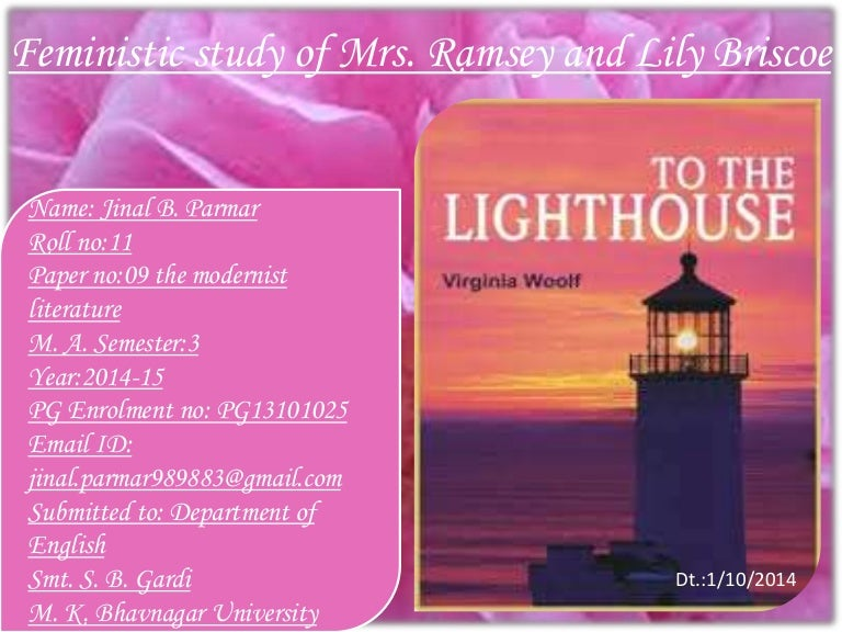 feministic study of mrs ramsey and lily briscoe in to the lighthouse