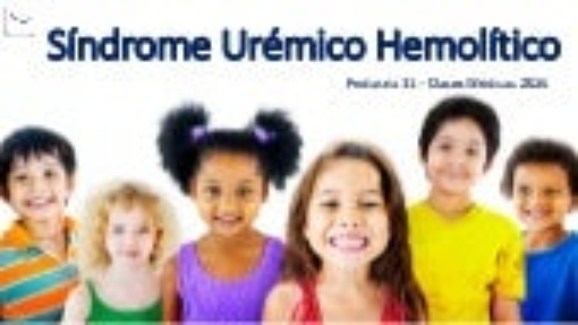 P11 Sindrome Uremico Hemolitico