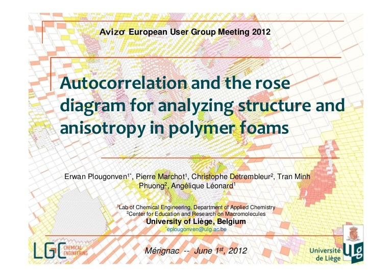 Autocorrelation and the rose diagram for analyzing structure and anis ccuart Images