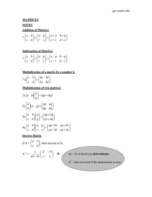 P2 Matrices Modul