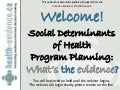 Social Determinants of Health Program Planning in Public Health: What's the Evidence?