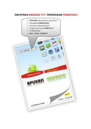 Membuat sendiri aplikasi android