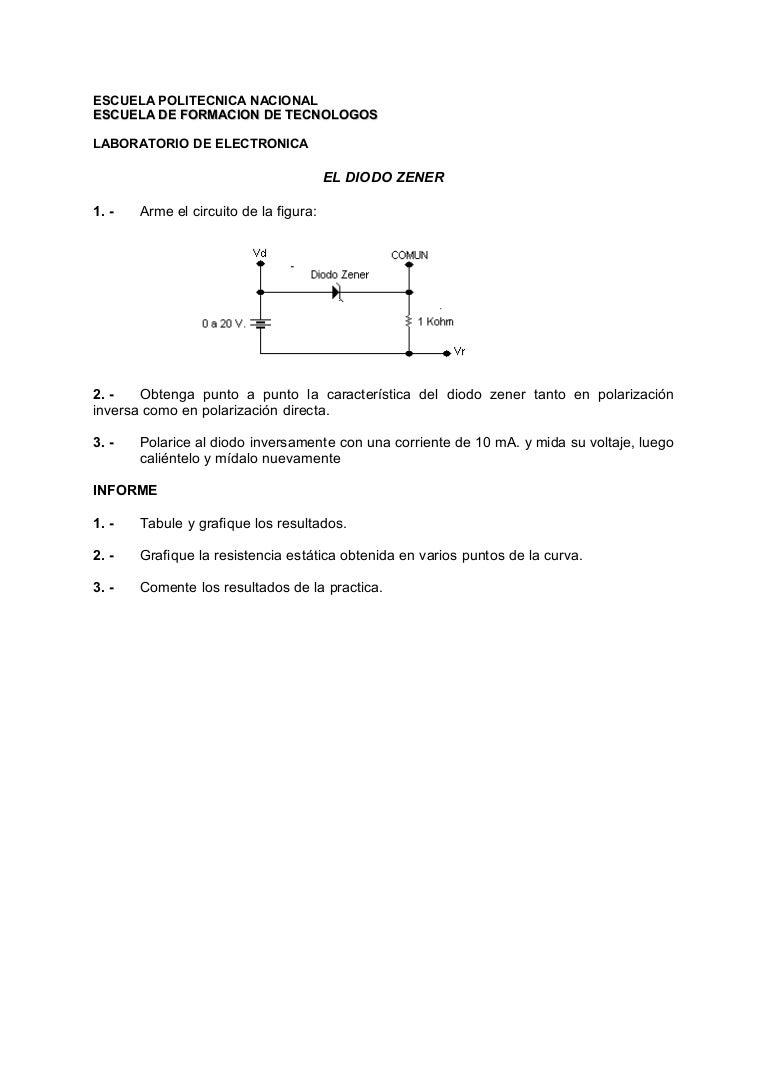Circuito Zener : P5 diodo zener