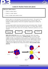 Worksheets Fission And Fusion Worksheet fission fusion worksheet samsungblueearth p6 nuclear power and fission