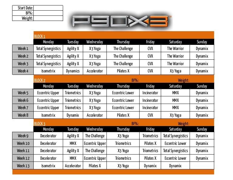 P90 x3 calendar-classic