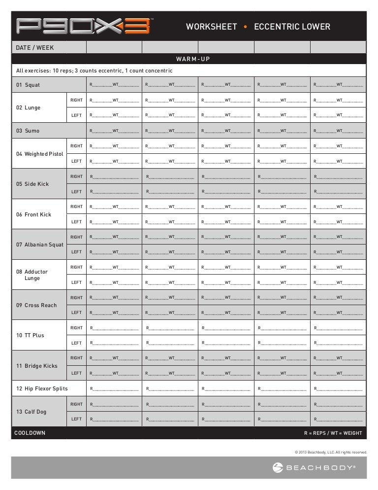 P90x3 Worksheets App - p90x3 worksheets app with Diilz.com