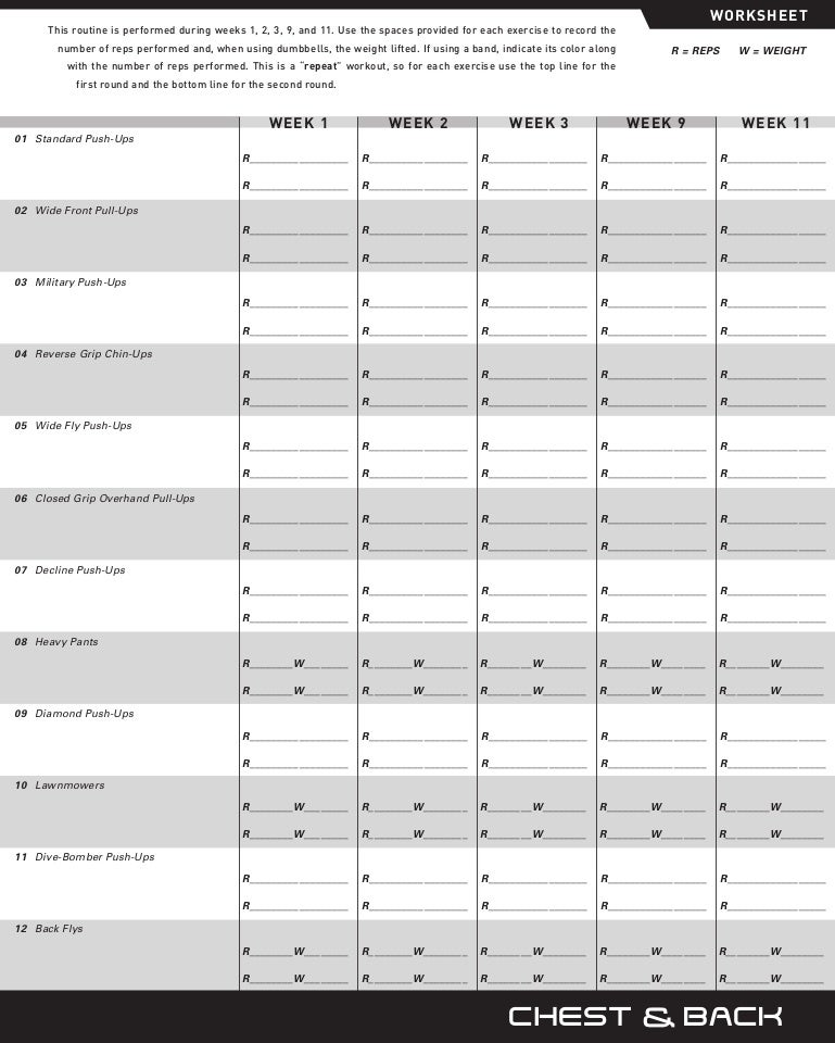 P90x Back And Biceps Worksheet Sharebrowse – P90x Chest and Back Worksheet