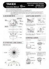 Takex PA-6810E Instruction Manual