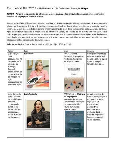 PADEBS PPGEB Síntese Texto 1 Taveira e Rosado 2013 conceitos