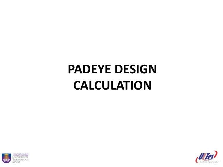 Padeye design calculation