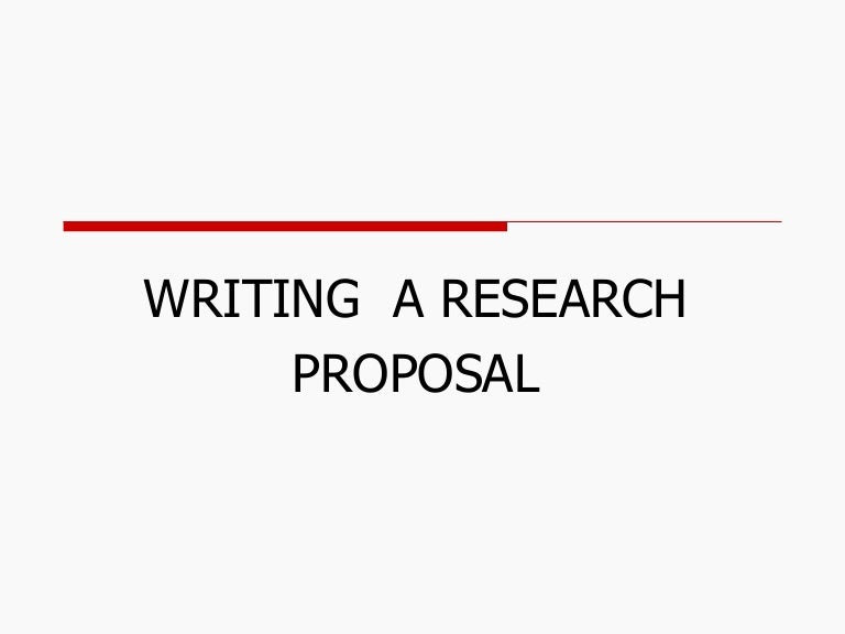 budget research proposal
