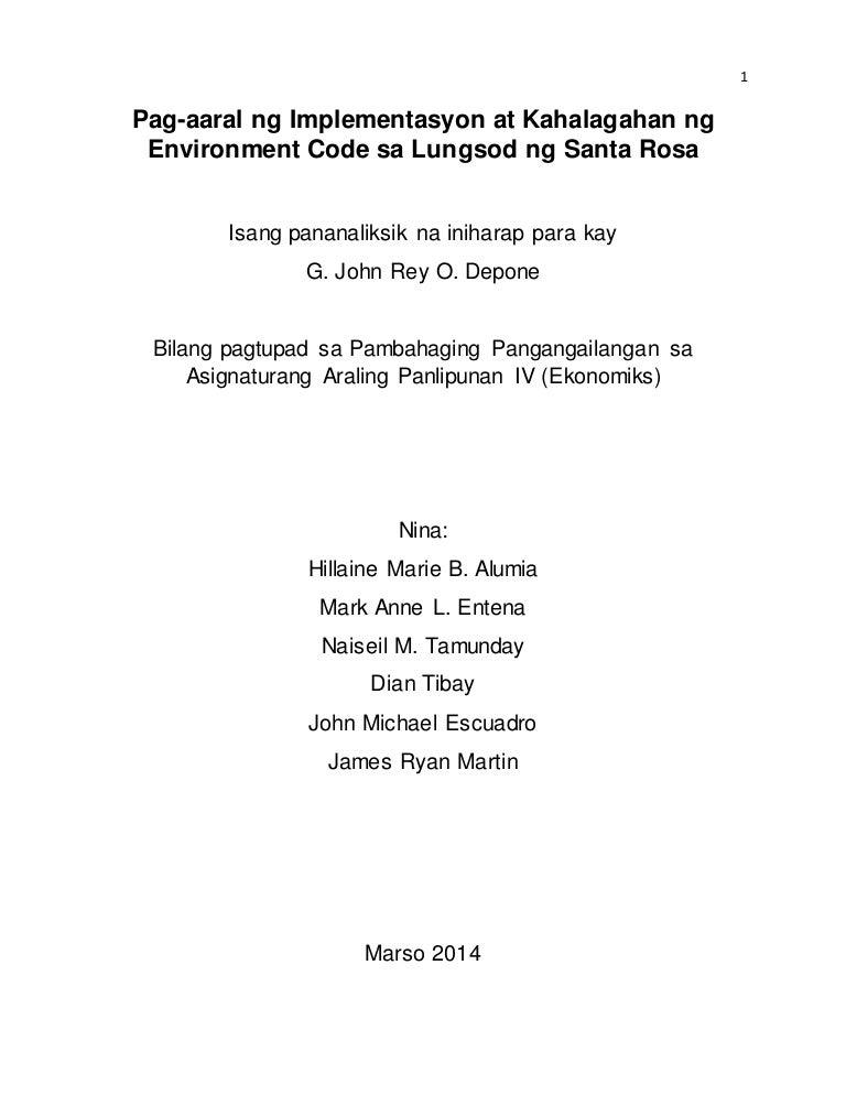 halimbawa ng pamagat sa thesis sa filipino