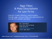 Page Titles & Meta Descriptions for Law Firms