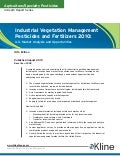 Industrial Vegetation Management Pesticides and Fertilizers 2010: U.S. Market Analysis and Opportunities