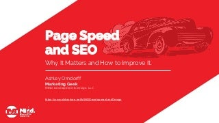 Page Speed and SEO: Why It Matters and How to Improve It