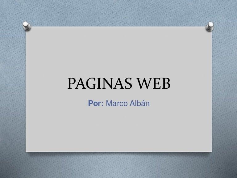 Paginas web marco alban