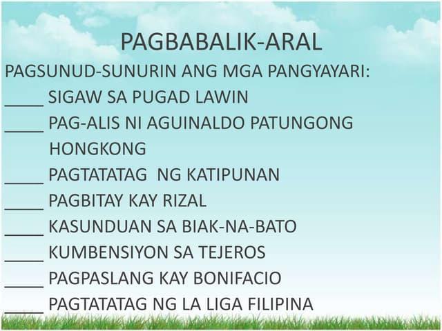 Itinatag ni ng kong hong pamahalaang pagkagaling aguinaldo niya Pamahalaang itinatag