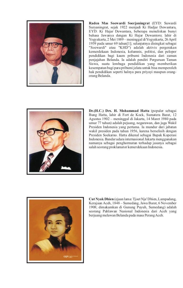 Gambar Pahlawan Kemerdekaan Dan Namanya