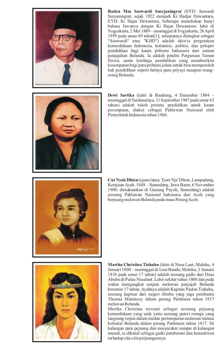 Gambar Para Pahlawan Beserta Namanya