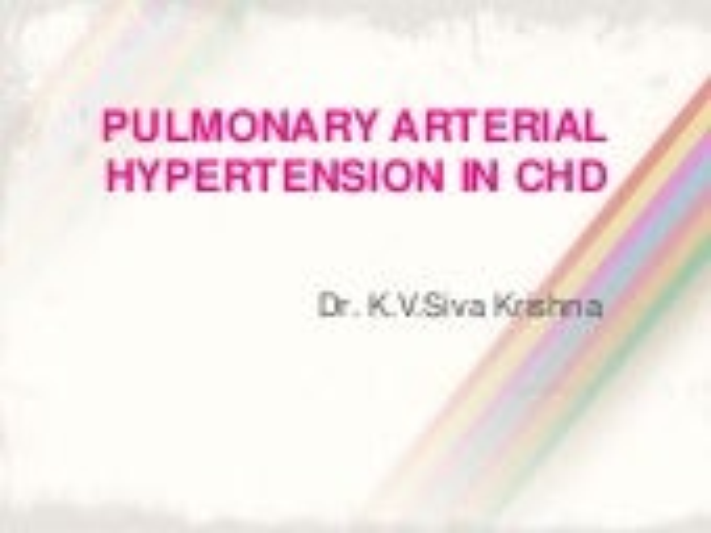 Pulmonary arterial hypertension in congenital heart disease