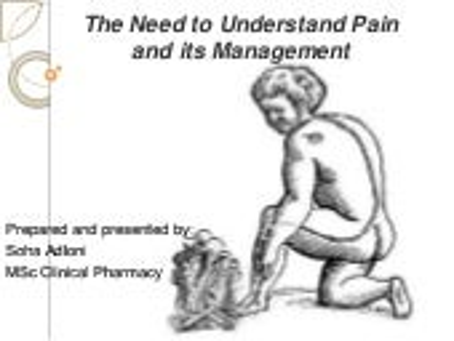 Pain management overview 2013