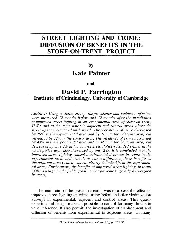painter farrington street lighting study situational crime pre