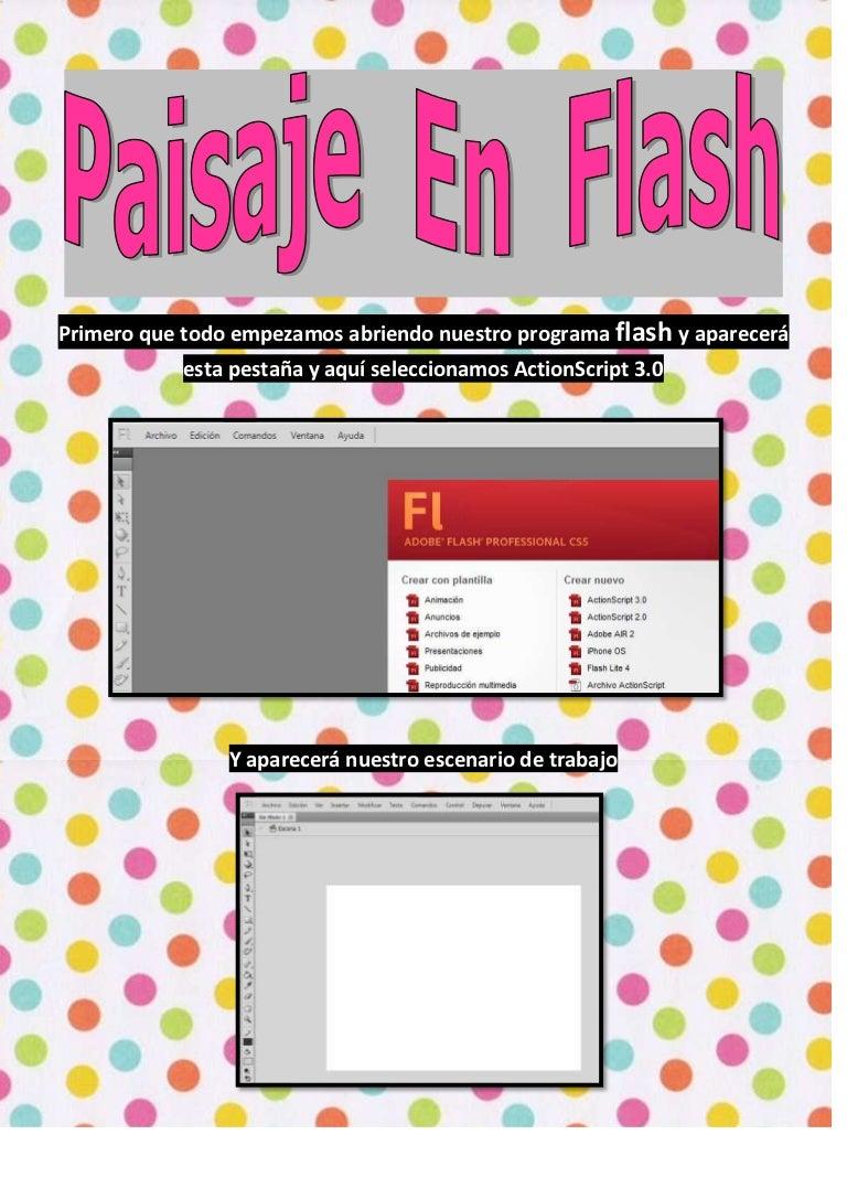 Paisaje de flash