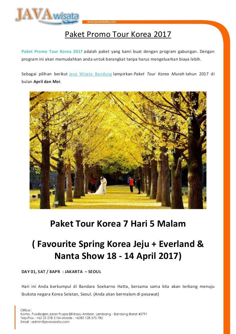 Paket Promo Tour Korea 2017